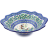 12-inch Stoneware Scalloped Bowl - Polmedia Polish Pottery H2946J