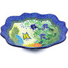 12-inch Stoneware Scalloped Bowl - Polmedia Polish Pottery H4555G