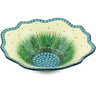 12-inch Stoneware Scalloped Bowl - Polmedia Polish Pottery H5100G