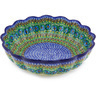 12-inch Stoneware Scalloped Bowl - Polmedia Polish Pottery H5431G
