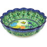 12-inch Stoneware Scalloped Bowl - Polmedia Polish Pottery H5444G