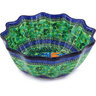 12-inch Stoneware Scalloped Bowl - Polmedia Polish Pottery H5452G