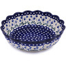 12-inch Stoneware Scalloped Bowl - Polmedia Polish Pottery H6383G