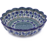 12-inch Stoneware Scalloped Bowl - Polmedia Polish Pottery H7816I