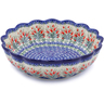 12-inch Stoneware Scalloped Bowl - Polmedia Polish Pottery H7817I