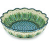 12-inch Stoneware Scalloped Bowl - Polmedia Polish Pottery H9383G