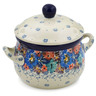 12 oz Stoneware Bouillon Cup with Lid - Polmedia Polish Pottery H7923J
