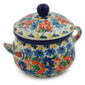 12 oz Stoneware Bouillon Cup with Lid - Polmedia Polish Pottery H7924J