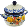 12 oz Stoneware Bouillon Cup with Lid - Polmedia Polish Pottery H7925J
