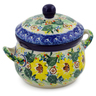 12 oz Stoneware Bouillon Cup with Lid - Polmedia Polish Pottery H7927J