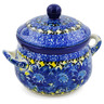 12 oz Stoneware Bouillon Cup with Lid - Polmedia Polish Pottery H7928J