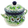 12 oz Stoneware Bouillon Cup with Lid - Polmedia Polish Pottery H7929J