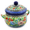 12 oz Stoneware Bouillon Cup with Lid - Polmedia Polish Pottery H7938J