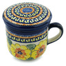 12 oz Stoneware Brewing Mug - Polmedia Polish Pottery H4672I