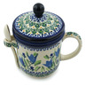 12 oz Stoneware Brewing Mug with Spoon - Polmedia Polish Pottery H4973I