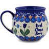 12 oz Stoneware Bubble Mug - Polmedia Polish Pottery H6403K