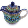 12 oz Stoneware Creamer with Lid - Polmedia Polish Pottery H0784H