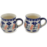 12 oz Stoneware Set of 2 Mugs - Polmedia Polish Pottery H0657L