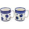 12 oz Stoneware Set of 2 Mugs - Polmedia Polish Pottery H1254L