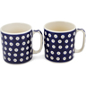 12 oz Stoneware Set of 2 Mugs - Polmedia Polish Pottery H1255L