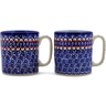 12 oz Stoneware Set of 2 Mugs - Polmedia Polish Pottery H1563K