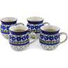 12 oz Stoneware Set of 4 Mugs - Polmedia Polish Pottery H0030K