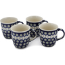 12 oz Stoneware Set of 4 Mugs - Polmedia Polish Pottery H0624L