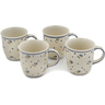 12 oz Stoneware Set of 4 Mugs - Polmedia Polish Pottery H0625L