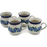 12 oz Stoneware Set of 4 Mugs - Polmedia Polish Pottery H0763L