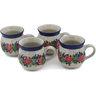 12 oz Stoneware Set of 4 Mugs - Polmedia Polish Pottery H0764L