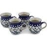 12 oz Stoneware Set of 4 Mugs - Polmedia Polish Pottery H0767L