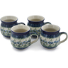 12 oz Stoneware Set of 4 Mugs - Polmedia Polish Pottery H0768L