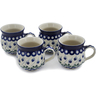 12 oz Stoneware Set of 4 Mugs - Polmedia Polish Pottery H0770L