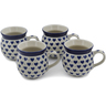 12 oz Stoneware Set of 4 Mugs - Polmedia Polish Pottery H0772L