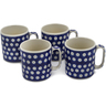 12 oz Stoneware Set of 4 Mugs - Polmedia Polish Pottery H0782L