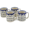 12 oz Stoneware Set of 4 Mugs - Polmedia Polish Pottery H0785L