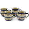 12 oz Stoneware Set of 4 Mugs - Polmedia Polish Pottery H3481L