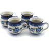 12 oz Stoneware Set of 4 Mugs - Polmedia Polish Pottery H9770K