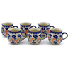 12 oz Stoneware Set of 6 Mugs - Polmedia Polish Pottery H0018K
