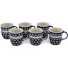12 oz Stoneware Set of 6 Mugs - Polmedia Polish Pottery H0635L