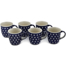 12 oz Stoneware Set of 6 Mugs - Polmedia Polish Pottery H0756L