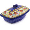 13-inch Stoneware Baker with Cover - Polmedia Polish Pottery H5292F