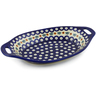 13-inch Stoneware Bowl with Handles - Polmedia Polish Pottery H9030F
