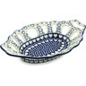 13-inch Stoneware Bowl with Holes - Polmedia Polish Pottery H2797H