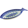 13-inch Stoneware Fish Shaped Platter - Polmedia Polish Pottery H4394K