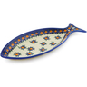 13-inch Stoneware Fish Shaped Platter - Polmedia Polish Pottery H4396K