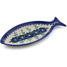 13-inch Stoneware Fish Shaped Platter - Polmedia Polish Pottery H6024K