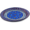 13-inch Stoneware Fluted Oval Platter - Polmedia Polish Pottery H3627G