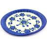 13-inch Stoneware Fluted Oval Platter - Polmedia Polish Pottery H4505G
