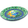 13-inch Stoneware Fluted Oval Platter - Polmedia Polish Pottery H5182G